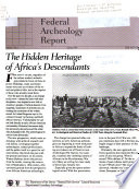 Federal Archeology Report