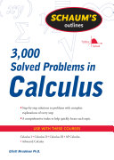 Schaum s 3 000 Solved Problems in Calculus