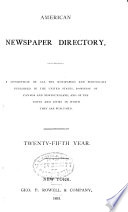 Rowell s American Newspaper Directory