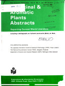 Medicinal   Aromatic Plants Abstracts
