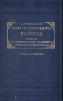 Letters on the State of Christianity in India