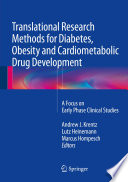 Translational Research Methods For Diabetes Obesity And Cardiometabolic Drug Development Book PDF