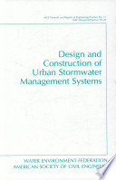 Design and Construction of Urban Stormwater Management Systems Book