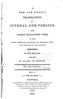 Pdf A New and Literal Translation of Juvenal and Persius