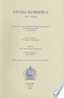 Papers Presented At The Thirteenth International Conference On Patristic Studies Held In Oxford 1999 Historica Biblica Theologica Et Philosophica