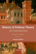 History of Political Theory: An Introduction Pdf/ePub eBook