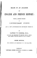 Heads of an Analysis of English and of French History  for the use of schools