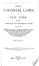 The Colonial Laws of New York from the Year 1664 to the Revolution Pdf/ePub eBook