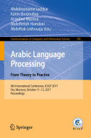 Pdf Arabic Language Processing: From Theory to Practice Telecharger