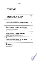 Regulatory Reform and Congressional Review of Agency Rules