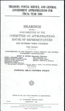 Treasury  Postal Service  and General Government Appropriations for Fiscal Year 1994