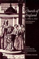 The Church of England C 1689 c 1833
