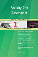 Security Risk Assessment A Complete Guide 2019 Edition Book PDF