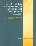 Core Curriculum for Specializing in Intellectual and Developmental Disability