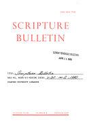 Scripture Bulletin