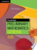 Cambridge Preliminary Mathematics General