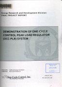 Demonstration of One cycle Control Peak Load Regulator  OCC PLR  System