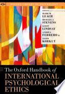 The Oxford Handbook of International Psychological Ethics