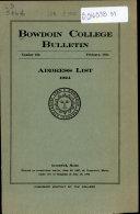 Bowdoin College Bulletin