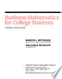 Business Mathematics for College Students