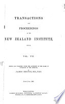 Transactions and Proceedings of the Royal Society of New Zealand Book PDF