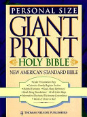 New American Standard Bible Size Giant Print