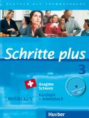Schritte plus 3 Ausgabe Schweiz. Kursbuch + Arbeitsbuch mit Audio-CD