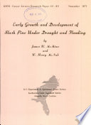 Early Growth and Development of Slash Pine Under Drought and Flooding