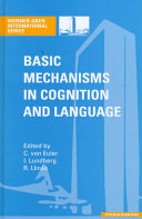 Basic Mechanisms in Cognition and Language with Special Reference to Phonological Problems in Dyslexia