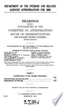 Department of the Interior and Related Agencies Appropriations for 2005