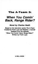 When You Comin  Back  Range Rider