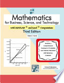 Mathematics For Business Science And Technology