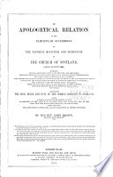 An apologetical relation of the particular sufferings of the faithful ministers and professors of the Church of Scotland, since August 1660 : wherein several questions, useful for the time are discussed; the king's prerogative over parliaments and people soberly inquired into; the lawfulness of defensive war cleared; the supreme magistrate's power in church matters examined; Mr. Stillingfleet's notion concerning the divine right or forms of church government considered; the author of The seasonable case answered; other particulars, such as the hearing of the curates appearing before the high commission court, etc., canvassed ... /