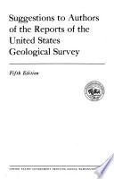 Suggestions to Authors of the Reports of the United States Geological Survey