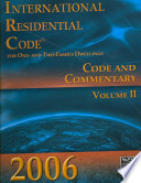 International Residential Code for One- And Two-Family Dwellings