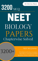 Pdf Biology Previous year MCQs Solved Chapterwise for NEET Exam EPUB Mobile Friendly Format