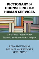 Dictionary Of Counseling And Human Services Book PDF