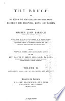 The Bruce: Books XIV-XX. How the good wife taught her daughter. A dietary, by John Lydgate. Notes. Glossary
