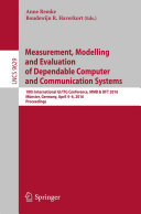 Measurement  Modelling and Evaluation of Dependable Computer and Communication Systems