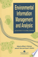 Environmental Information Management And Analysis Book PDF