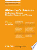 Alzheimer S Disease Modernizing Concept Biological Diagnosis And Therapy Book PDF