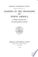 Readings in the Geography of North America