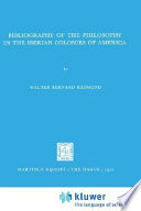 Bibliography Of The Philosophy In The Iberian Colonies Of America