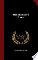 Max Ehrmann's Poems