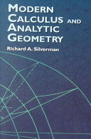 Modern Calculus and Analytic Geometry ebook