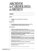 Archivos de cardiología de México