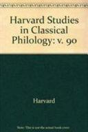 Harvard Studies in Classical Philology