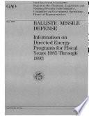 Ballistic Missile Defense Book