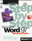 Microsoft Word 97 Step by Step, Advanced Topics