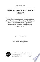 NASA Space Applications  Aeronautics and Space Research and Technology  Tracking and Data Acquisition support Operations  Commercial Programs  and Resources  1979 1988 Book PDF